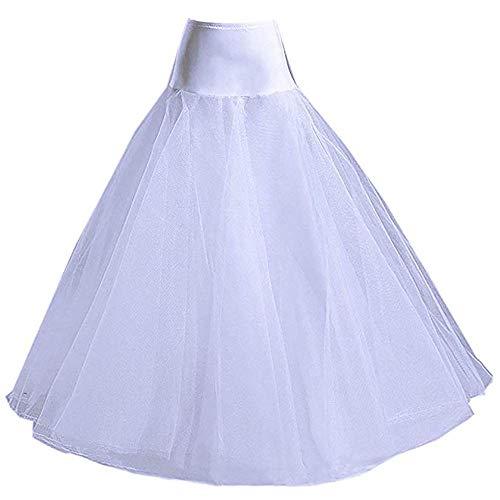 AnDream A-line Petticoats for Women Full Length Slips for Bridal Dress Underskirt Crinoline Wedding Accessories PT01