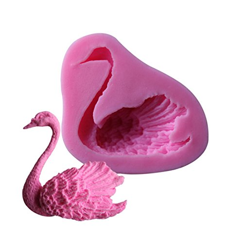 (Swan Shape Fondant Mould Cutter Decorating Tools Sugarcraft Delicate Flower home)