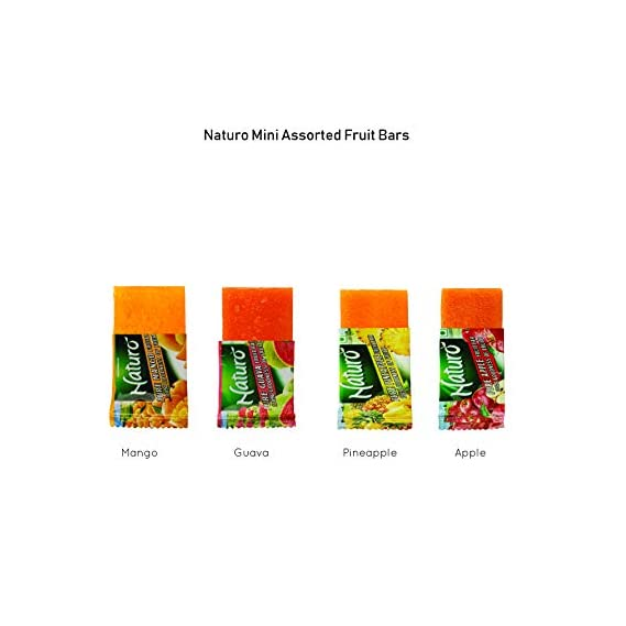 Naturo Assorted Fruit Bar Lunch Box 4.5g- Pack of 100
