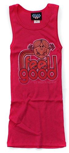 JUNK FOOD Damen Tank Top T-Shirt Fuchsia Feel Good