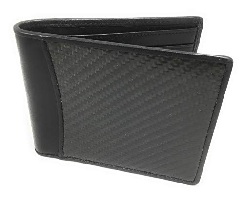Carbon Fiber Shoes - Namotu Real Carbon Fiber Wallet w/RFID Blocking Tech, Leather at Hinges and Trim - ID Window - Mens Slim Thin Real Carbon Bifold to Protect Your Money and Cards Identity