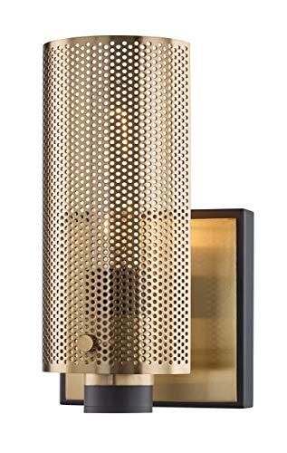 - Troy Lighting B6871 Pilsen One Light Wall Sconce, Modern Bronze with Plated Brass