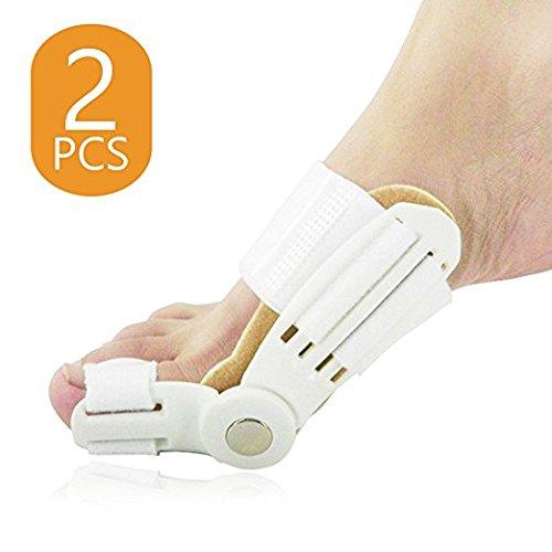 DUORUI 1 Pair Toe Straightener Bunion Relief Splint Corrector with Hinge to Realign Hallux Valgus Splint Treatment Bunion Foot Pain | Medical Grade ABS Material-Big Toe Pain Relief Feet Care