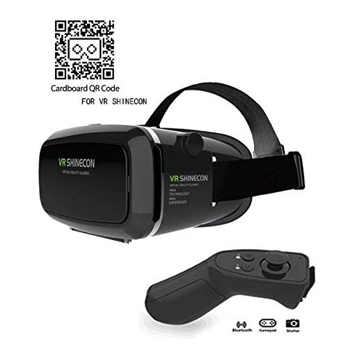 VR Headset KAMLE Virtual Reality Headset -for iPhone X/7/6s/6+/6/5, Samsung, Huawei, Google, Moto & All Android Smartphone With Magnetic Front Cover, Adjust Strap & With Remote Controller by KAMLE