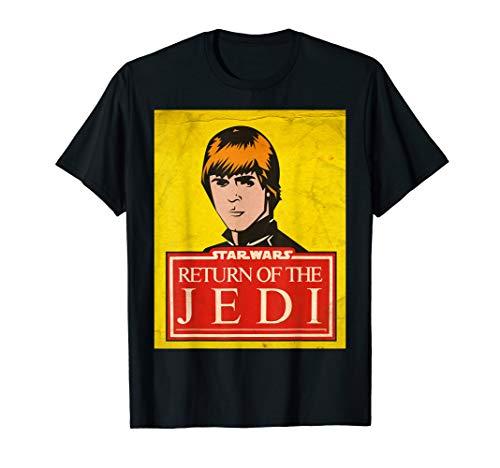 Star Wars Luke Skywalker Jedi Vintage Trading Card T-Shirt ()