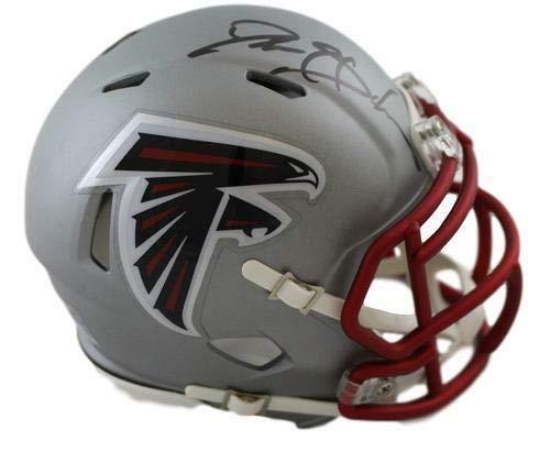 Deion Sanders Autographed Atlanta Falcons Blaze Mini Helmet JSA