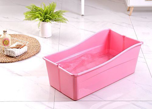 Ganen Baby Bath Tub Portable (Red), used for sale  Delivered anywhere in USA