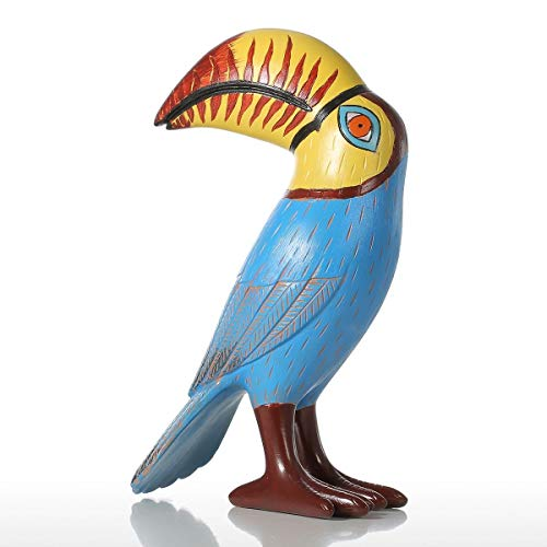 Bozhiyi Home Decoration Resin Crafts Ornaments Big Mouth Toucan Bird Resin Sculpture Fiberglass Ornament Indoor Decor Statue Figurine Modern Art