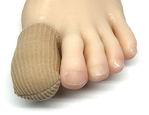 ZenToes 5 Pack Toe Caps Closed Toe Fabric Sleeve Protectors with Gel Lining, Prevent Corn, Callus and Blister Development Between Toes, Soften and Soothe the Skin (Size Large)