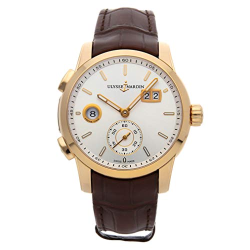 Ulysse Nardin Dual Time Mechanical (Automatic) Silver Dial Mens Watch 3346-126/91 (Certified Pre-Owned)