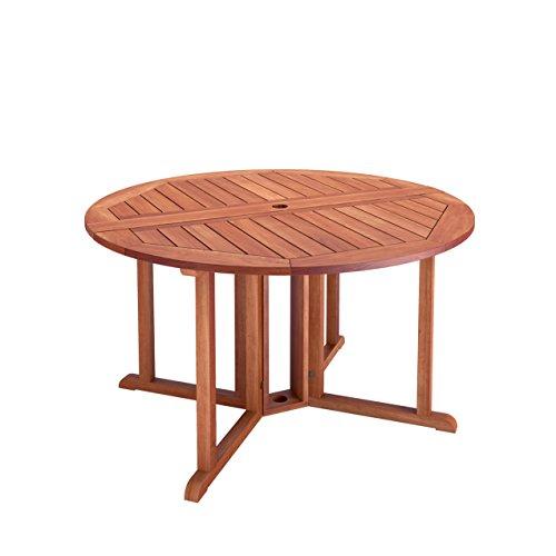 CorLiving PEX-369-T Miramar Hardwood Outdoor Drop Leaf Dining Table, Cinnamon Brown