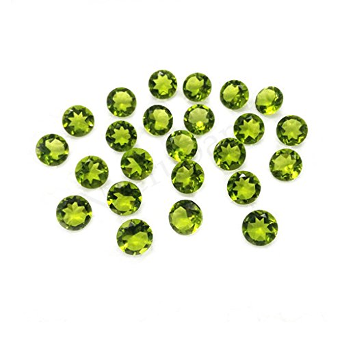 Neerupam collection Light Green Natural Chinese Peridot AAA Quality 1.75 mm Brilliant Cut Round Loose gemstone