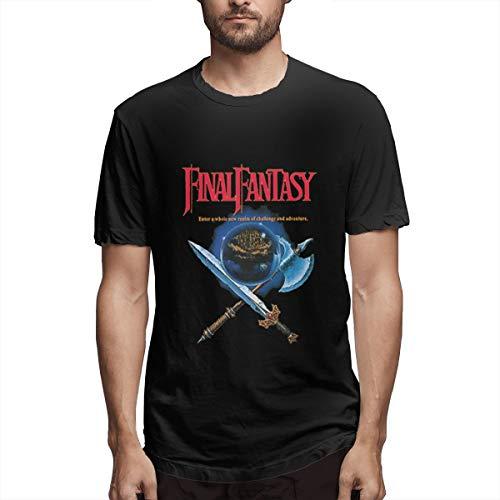 Advgbnnmyjerf Final Fantasy FC T-Shirt Fashion L Black