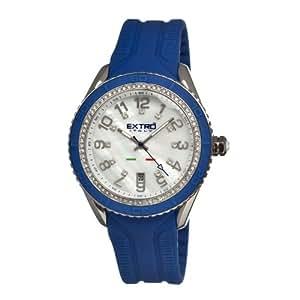 extro italy EXOEXU00100.05.SI - Reloj para mujeres, correa de goma color azul