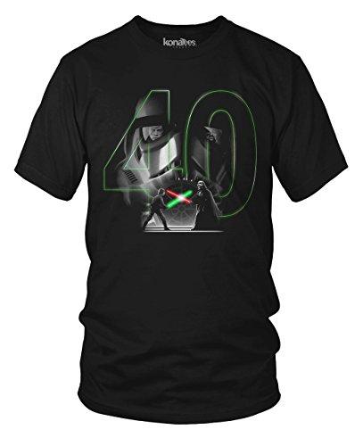 40th Anniversary, Star Wars, Vader and Luke T-Shirt- (Black) Large