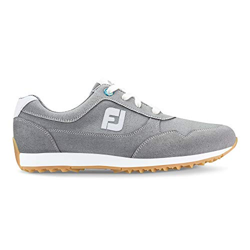 (FootJoy Women's Sport Retro Golf Shoes Grey 9 M US)