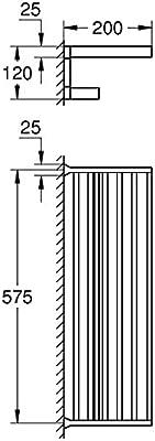 Grohe 40 804 Chrome Selection Cube Towel Rack