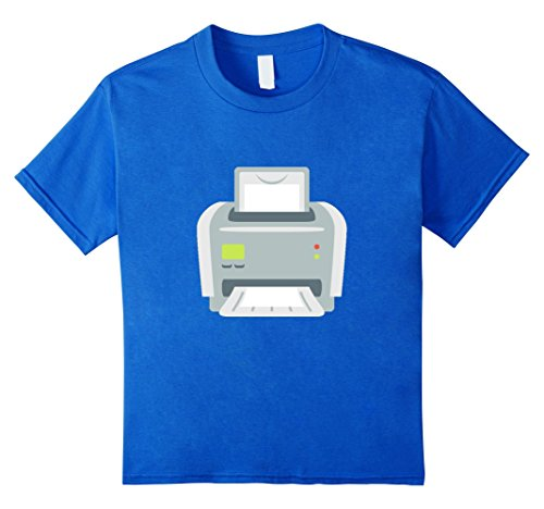 Price comparison product image unisex-child Computer Printer T-Shirt Office Fax Machine Paper Ink 6 Royal Blue