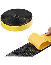 yinyinpu Velcro Doble Cara Velcro Adhesivo Doble Cara con Velcro 25m/82ft Gancho y Cinta de Bucle Gancho y Bucle Autoadhesivo Hook,25mm