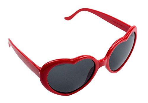 niceEshop(TM) Fashion Heart Shaped Plastic Frame Sunglasses Eyewear,Bright - Red Shaped Heart Sunglasses