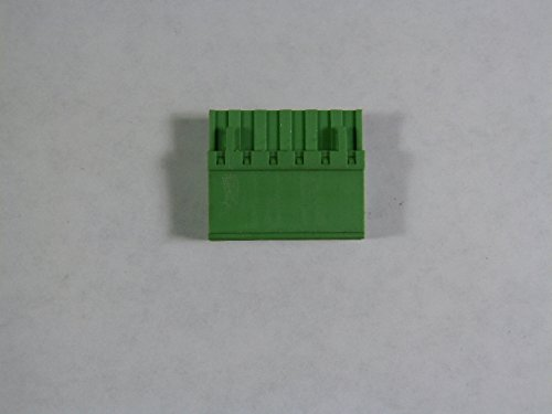 (Phoenix Contact MVSTBW-2,5/6-5,08 Terminal Header 10A 250V 6-Pos Green)
