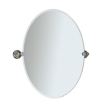 Amazon.com: Gatco portalima Tiara espejo de pared ovalado ...