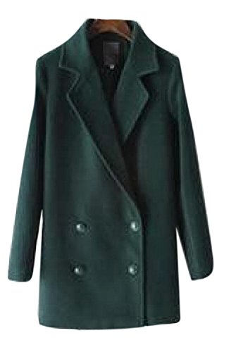 Tweed Peacoat - Lingswallow B015GRA1DW Blackish Green