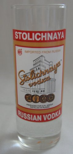 Stolichnaya Stoli Russian Vodka Shot Glass