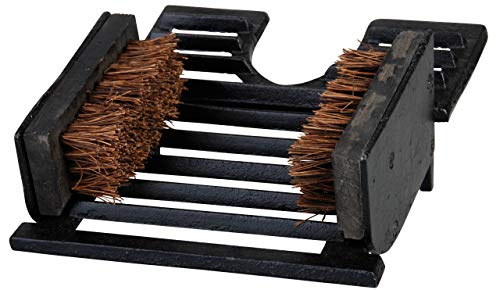 Esschert Design USA LH63 Boot Pull with Brush Cast Iron Iron Boot