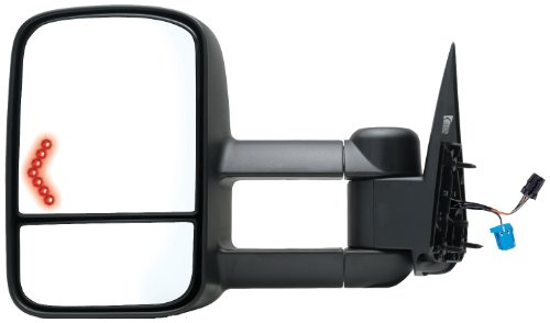 Fit System 62076G Chevrolet/GMC/Cadillac Driver Side Replacement Heated Towing Mirror with Turn Signal and Dual Glass