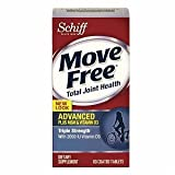 Schiff Move Free Advanced plus MSM & Vitamin D3 Dietary Supplement Tablets Triple Strength 80.0 ea. (Quantity of 2)
