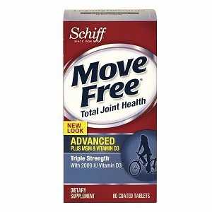 Schiff Move Free Advanced plus MSM & Vitamin D3 Dietary Supplement Tablets Triple Strength 80.0 ea. (Quantity of 2) by Groceries To Your Door