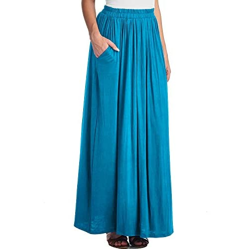ab7241e6f6 best CoutureBridal Women's Spandex High Waist Shirring Maxi Skirt With  Pockets