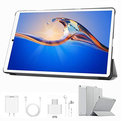 🥇 Tablet 10 Pulgadas 4 GB RAM 64GB/128GB ROM Android 9.0 Ultrar-Rápido Tablets 4G Dual SIM / WiFi 8000mAh Batería Quad Core