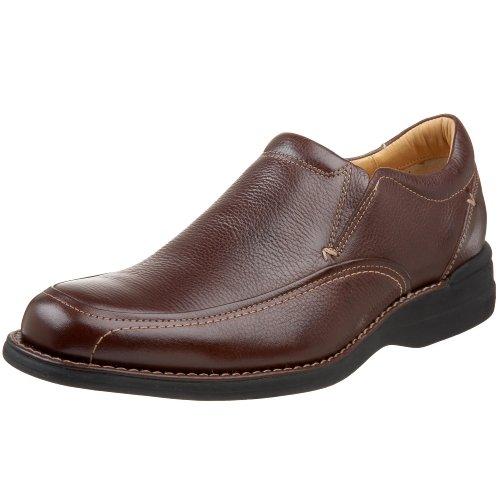 Johnston & Murphy Men's Shuler Side Gore Slip On,Dark Brown,8.5 M US (Leather Side Gore)