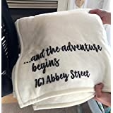 Personalized throw blanket for a new home, or new marriage.