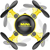 Glorrt Mini 2.4GHz 4CH 6-Axis Gyro Drone RC Quadcopter 3D UFO RC KY901 Without Camera (yellow)