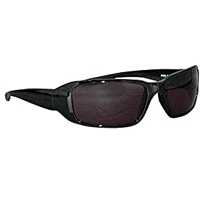 Ironwear Waterford 3015 Series Nylon Protective Safety Glasses, Grey Lens, Shiny Black Frame (3015S-G)