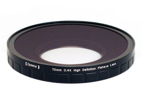 Opteka OPT-724PF 72mm 0.4X HD2 Large Element Fisheye Lens for Professional Video Camcorders by Opteka
