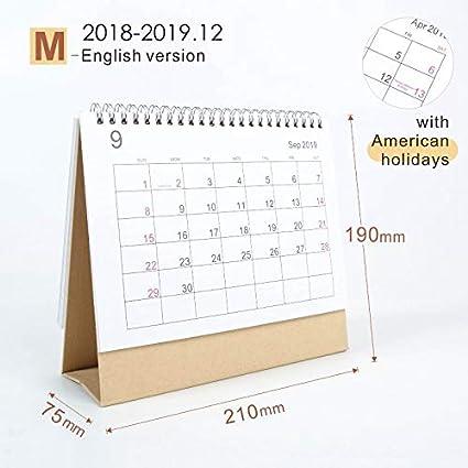 2019 Simple Style Table Calendar Weekly Planner Monthly Plan To Do List Desk Calendar Daily Desktop Calendar Office & School Supplies Calendars, Planners & Cards