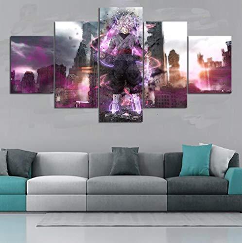 yisanwu 5 Piece Hd Wall Art Dragon Ball Z Characters Super Saiyan3 Goku Posters for Living Room Decor 10X15Cmx2 10X20Cmx2 10X25Cmx1 Frameless (Design Your Own Dragon Ball Z Character)
