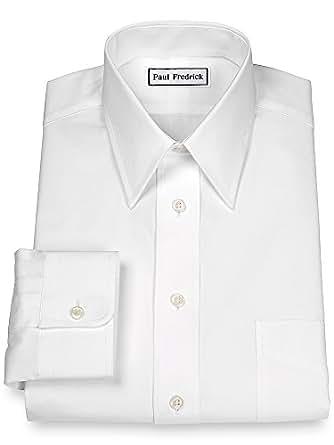Paul fredrick men 39 s 2 ply cotton straight collar button for 2 ply cotton dress shirt