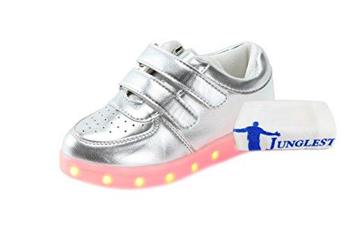 [+Pequeña toalla]De carga USB zapatos de los niños chicos que emite luz zapatos zapatos de los zapatos luminosos LED iluminados deportiva c2