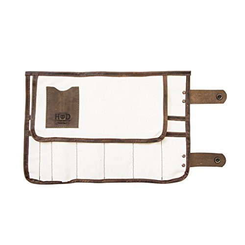 Durable Canvas Stylist Barber Scissors Pouch Salon Hair Tools Roll Handmade by Hide & Drink