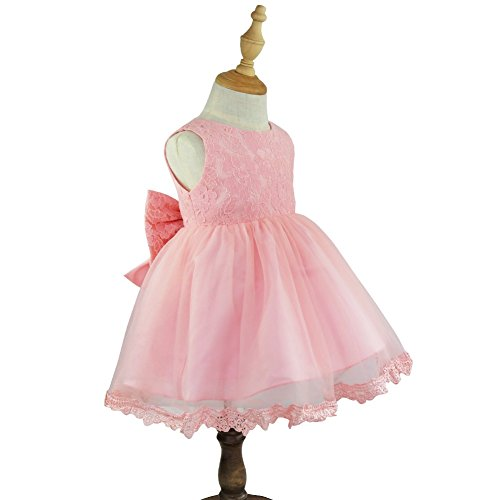 Floral Toddler Lace Baby Bridesmaid Formal Easter Pink Wedding TiaoBug Dress Infant Party Pageant Princess Girls wqApxIfC