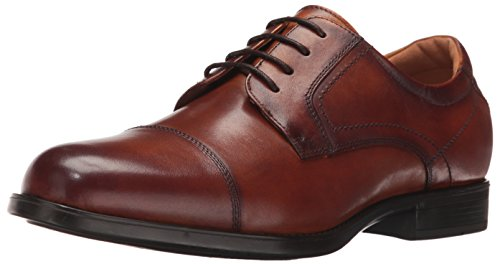 Florsheim Men's Medfield Cap Toe Oxford Dress Shoe, Cognac, 13 ()