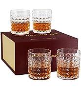 Paysky Bourbon Glass Set of 4 Old Fashion Glass , fit Cocktail Glasses,Whisky Glasses ,Cocktail G...