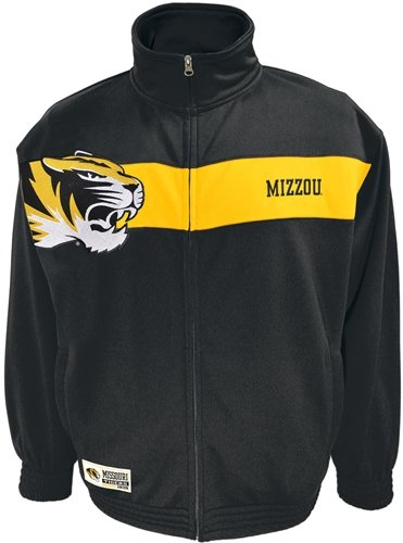 Missouri Tigers Majestic Victory March Full Zip Colorblocked Track Jacket Giacca