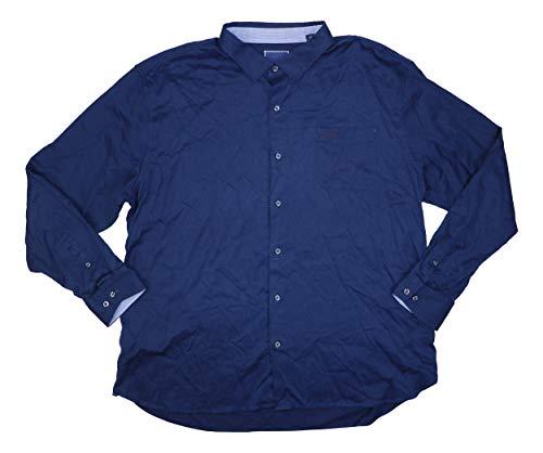 Tommy Bahama Oasis Twill Silk Blend Button Down Shirt (Ocean Deep, XXX-Large) - Silk Twill Shirt