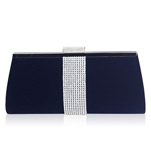 Blue Pour GSHGA Sacs Femme Embrayage Strass En Sacs Velours En Blue Soie En AqnZ67Tq